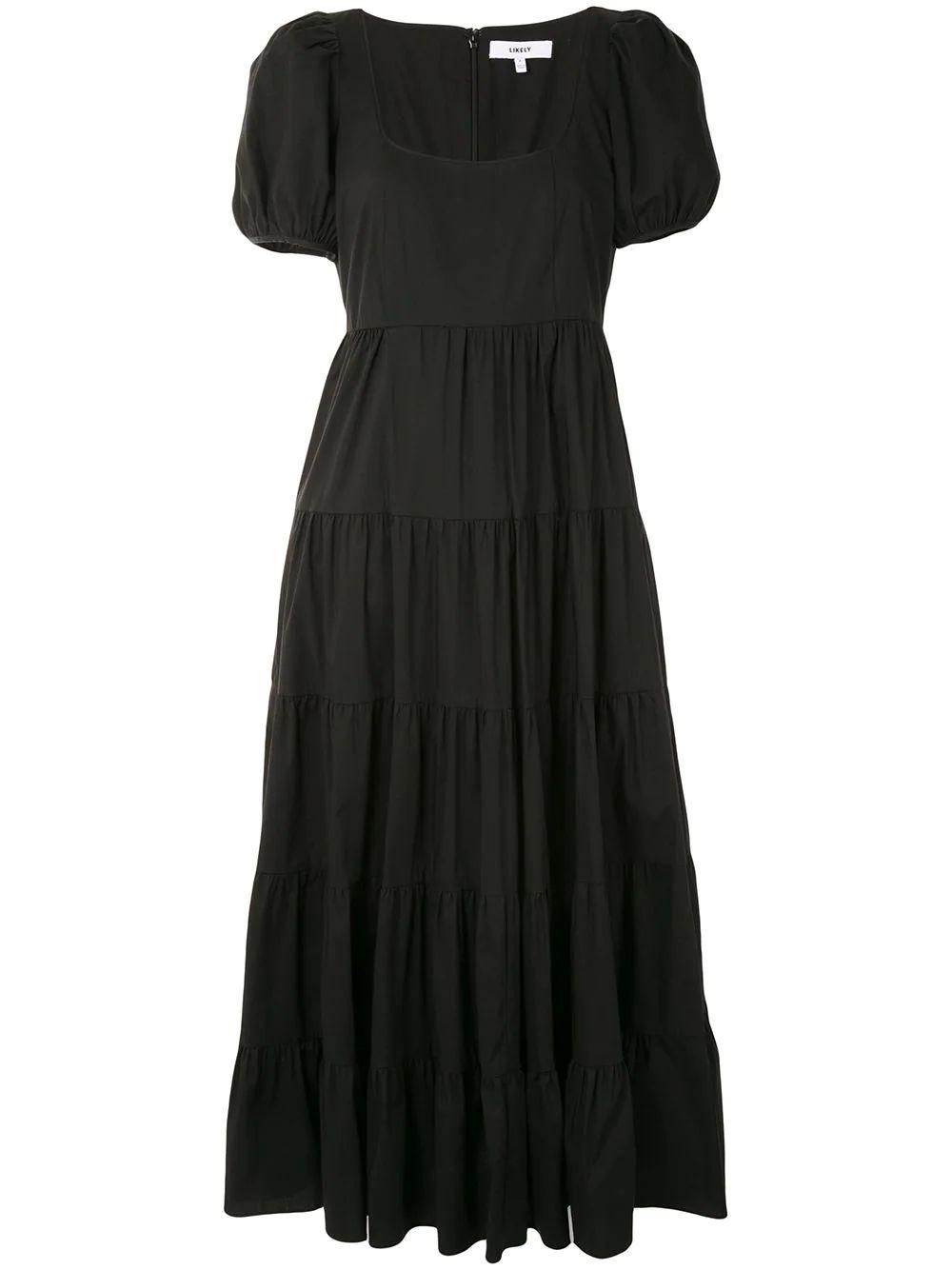 Chloe Scoop Neck Tiered Dress Item # YD12182231Y