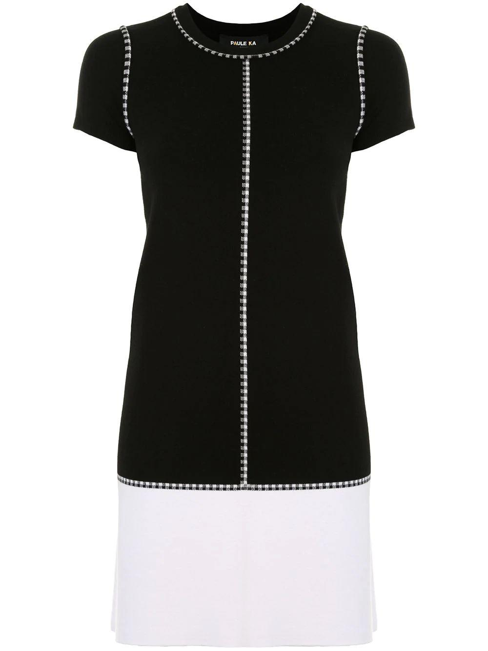 Two- Tone Knit Dress Item # 403/RO32