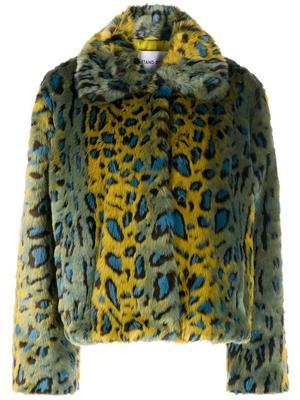 Marcella Faux Fur Jacquard Leopard Coat