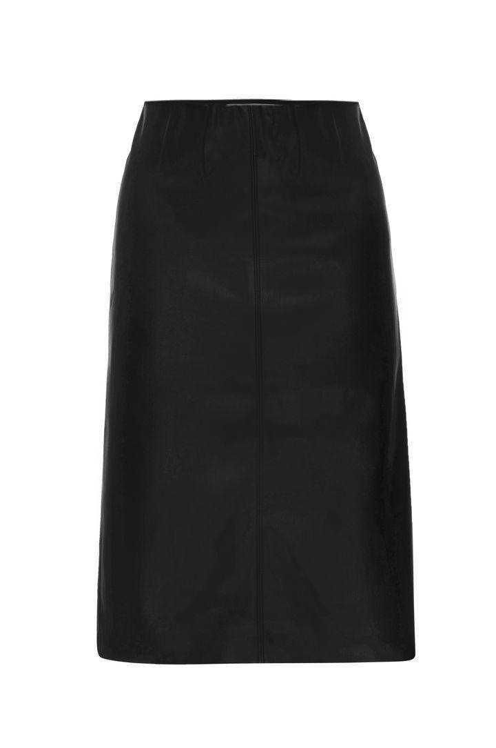 River Faux Leather Pencil Skirt