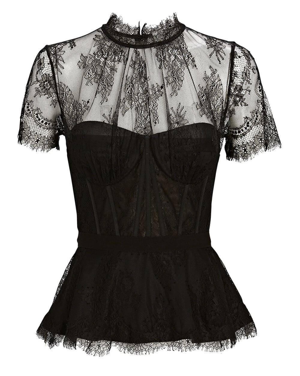 Kehlani Lingerie Lace Bustier Top Item # 520-2096-E