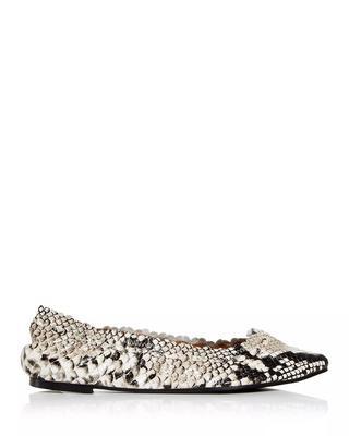 Shimmer Scallop Ballet Flat