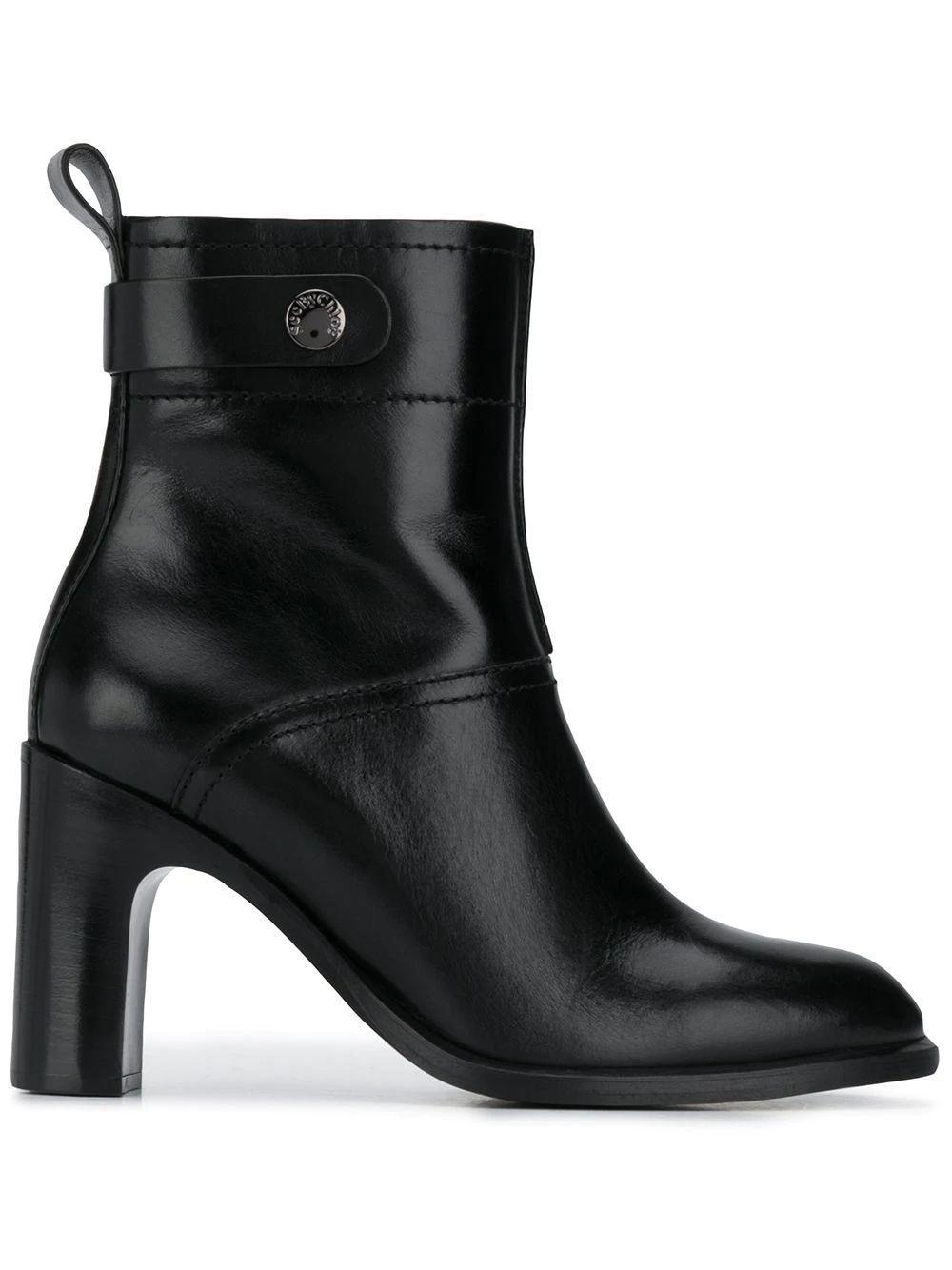 Block Heel Round Toe Bootie Item # SB35004A-C