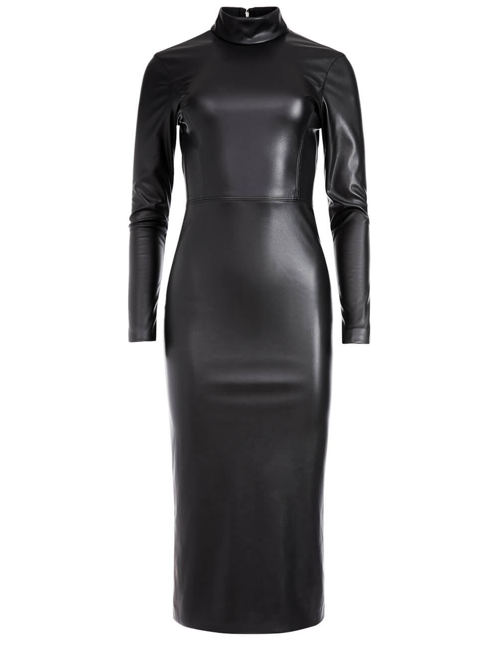 Delora Vegan Leather Dress