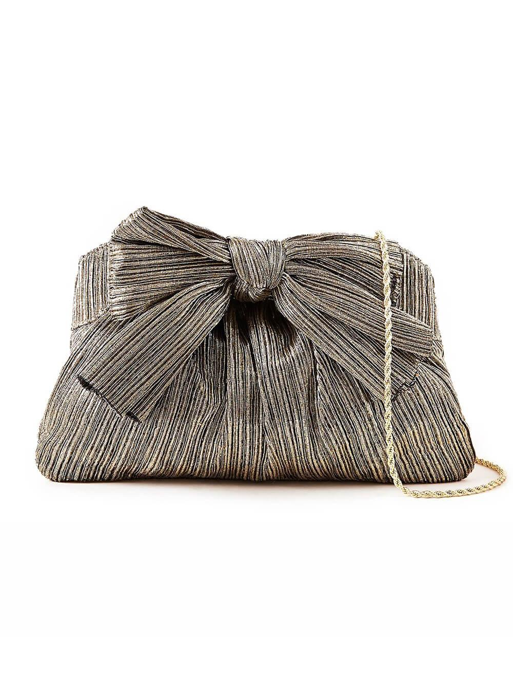 Rayne Pleated Frame Clutch