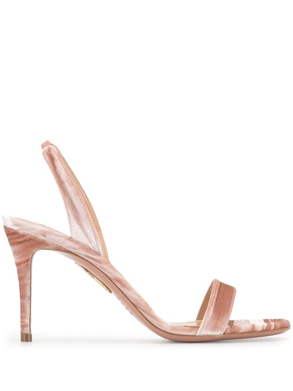 So Nude Velvet 85mm Sandal