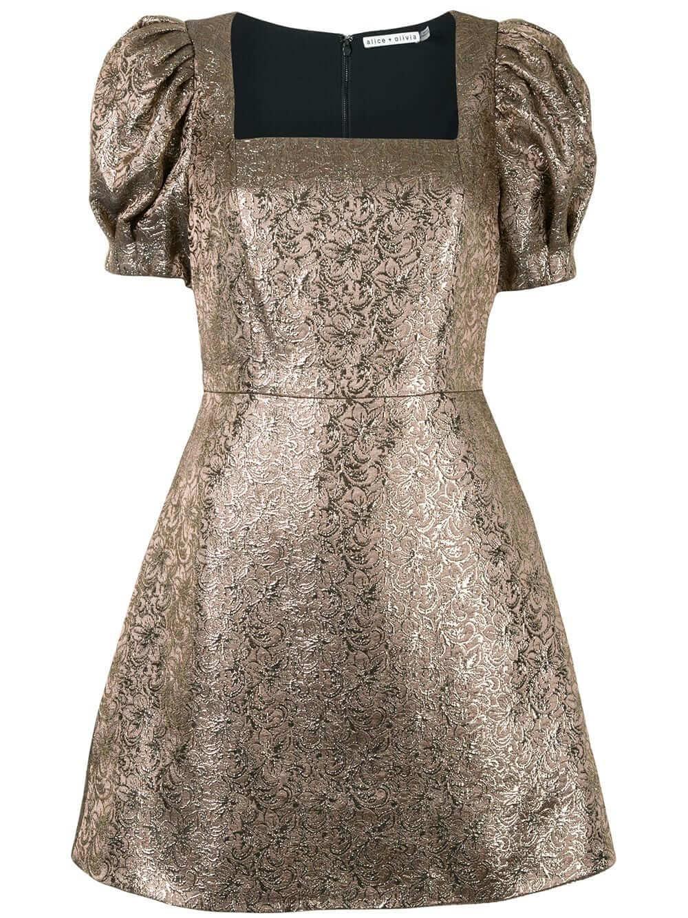 Kalen Brocade Mini Dress Item # CC009N04543