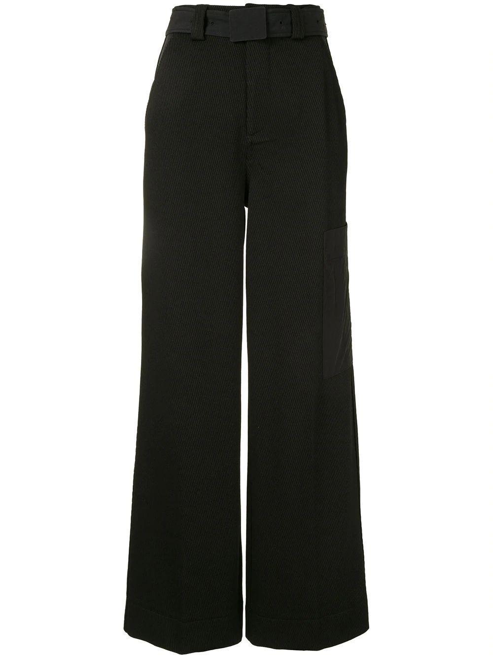Twill Wide Leg Trouser Item # F5159
