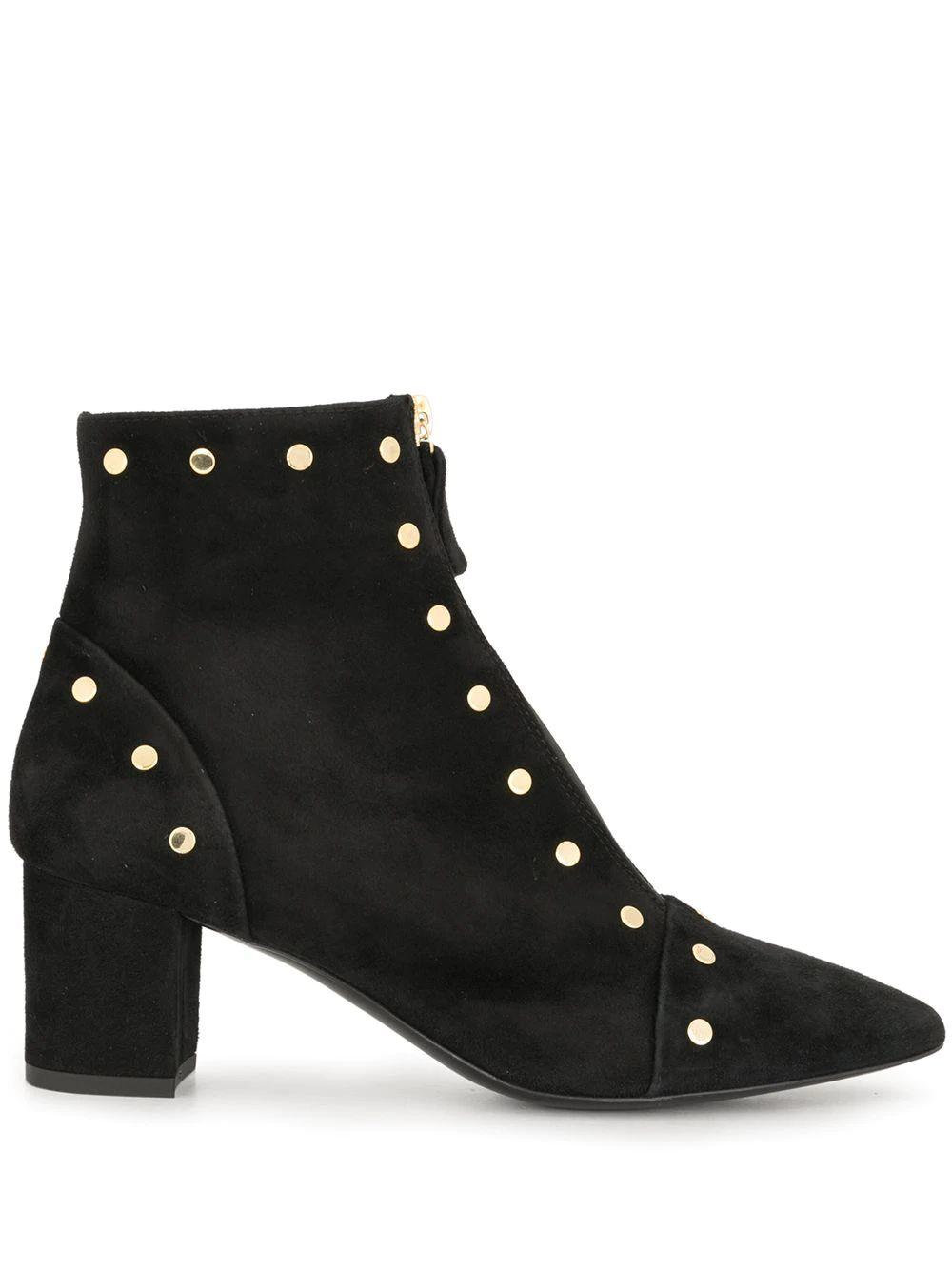 Studded Velour Bootie