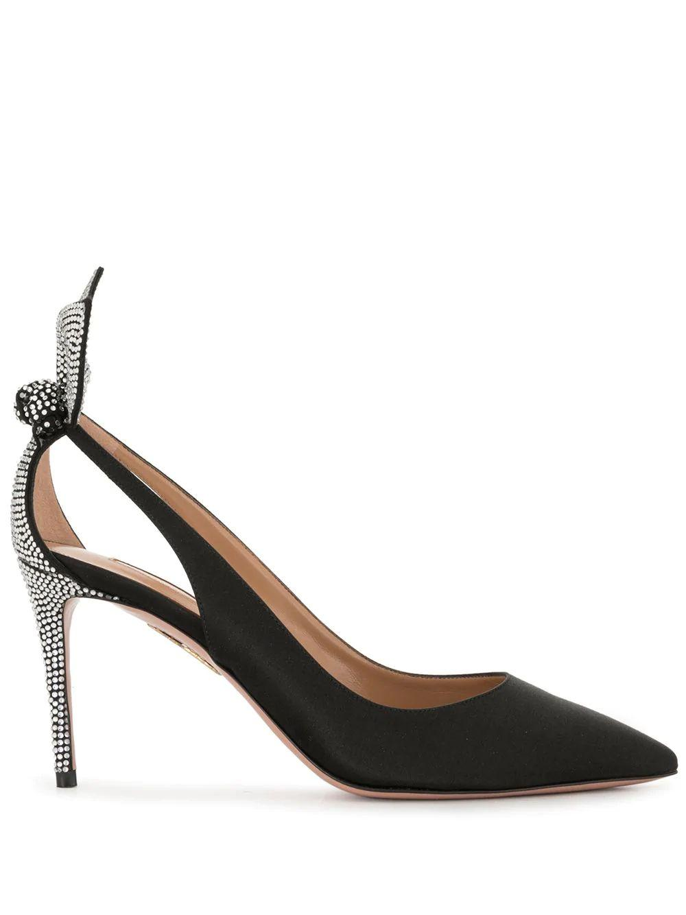 Deneuve 85mm Crystal Pump Item # DECMIDP0-SAT