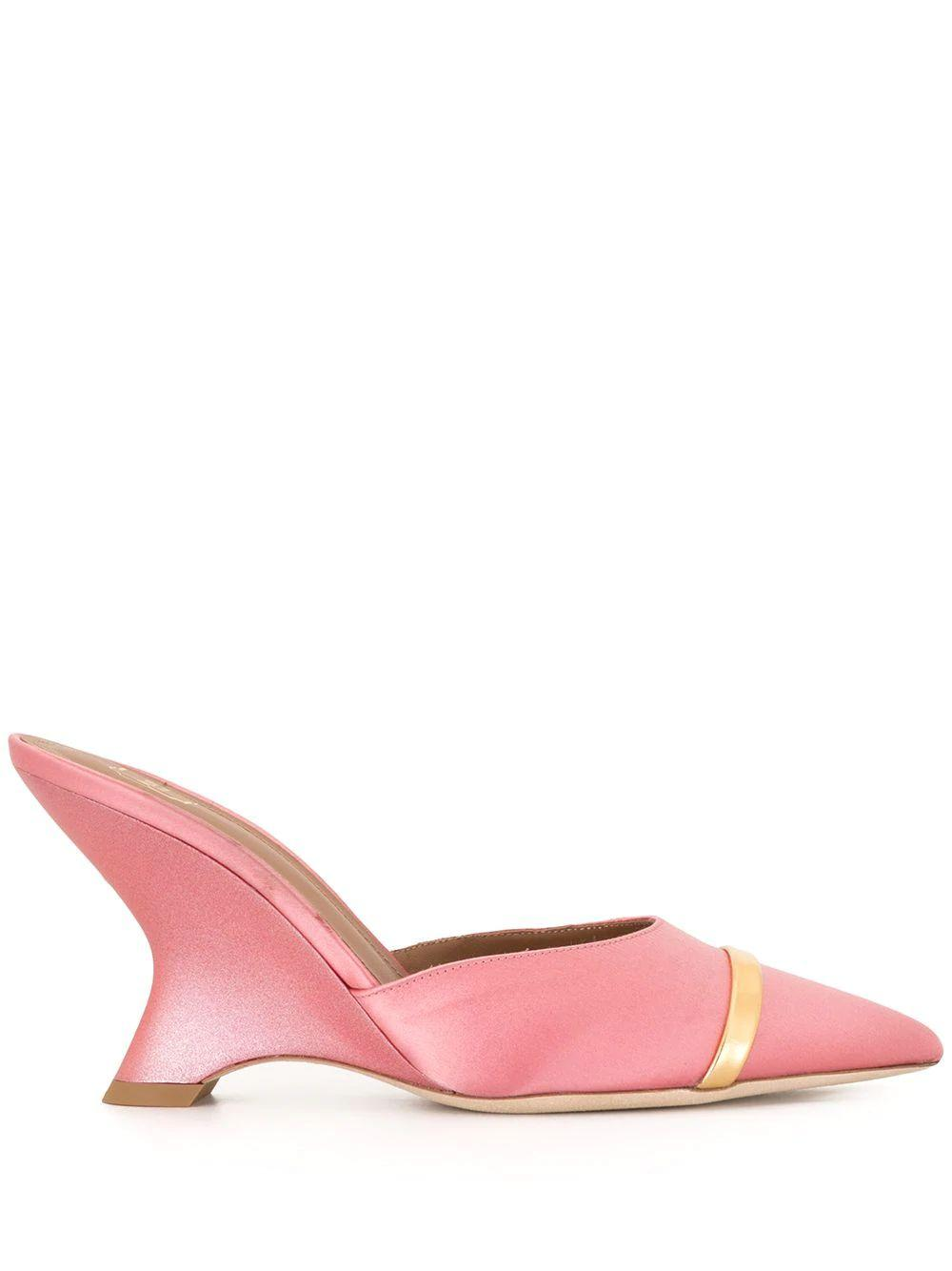 Satin Pointed Toe Wedge