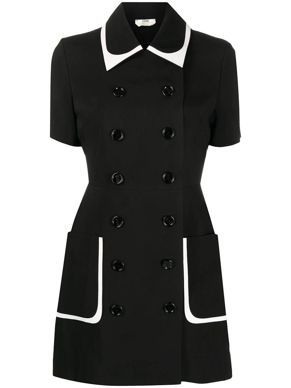 Double Breasted Mini Dress Item # FDA886-AC5M