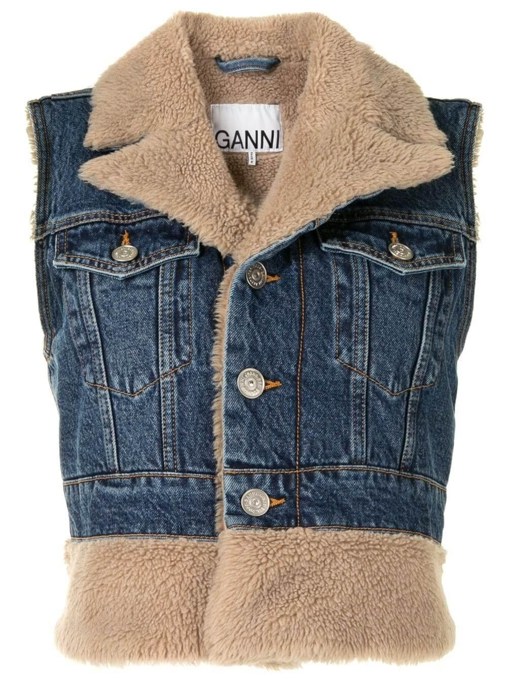 Teddy Denim Vest