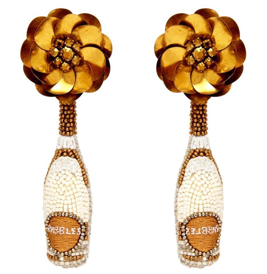 Prosecco Bottle Earrings Item # E144-033