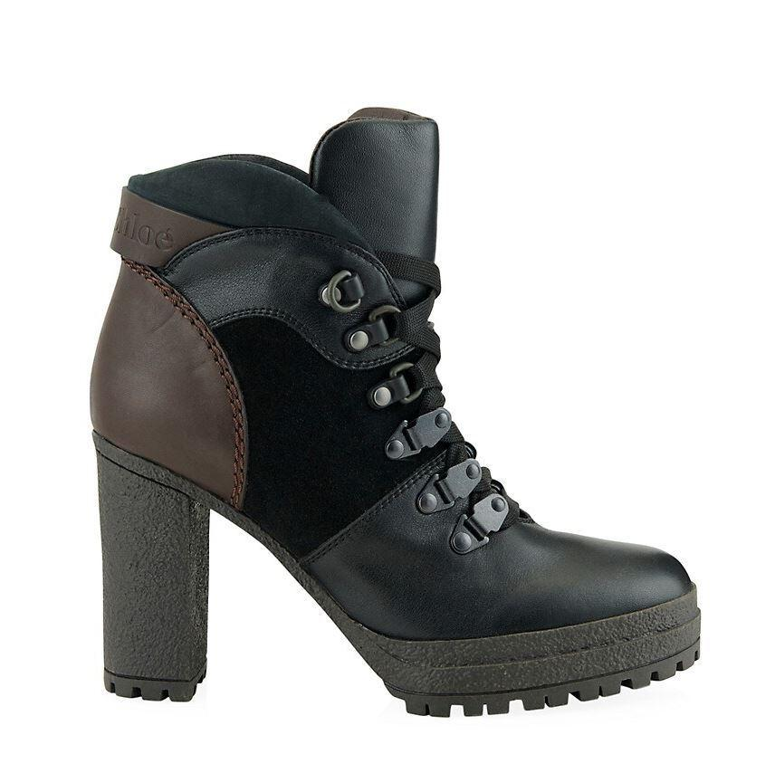 Chunky Heel Hiking Boot