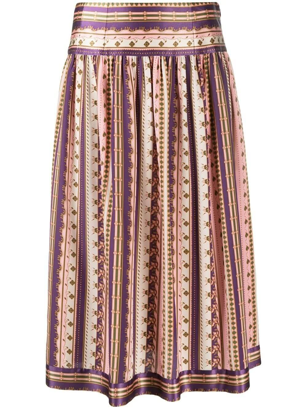 Striped Burnout Skirt Item # 78787-028