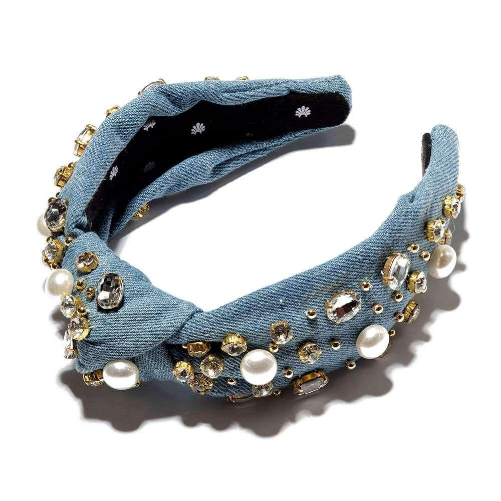 Denim Embellished Headband