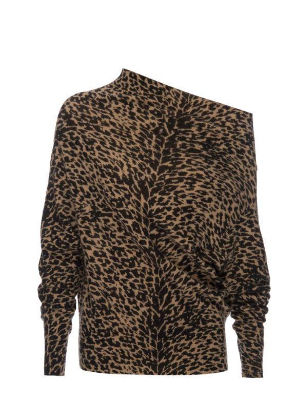 Lori Off The Shoulder Cashmere Sweater Item # LUX3016P