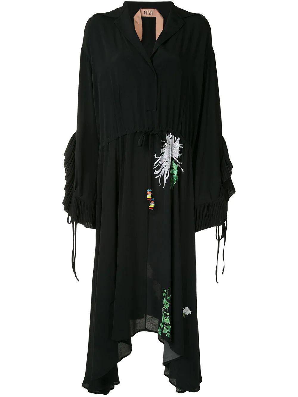 Stampa Fondo Midi Dress