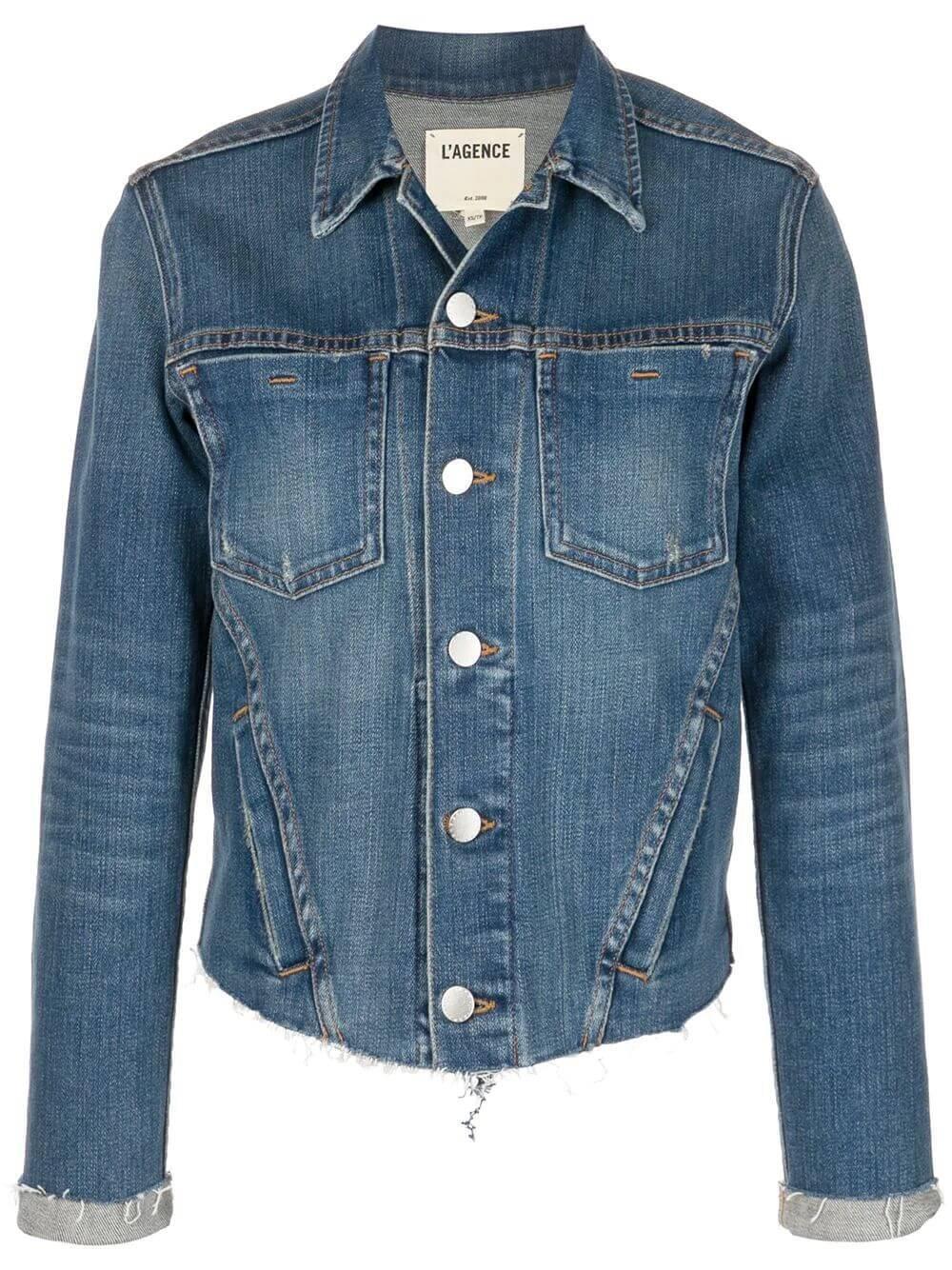 Janelle Slim Denim Jacket Item # 1431RDM-R20