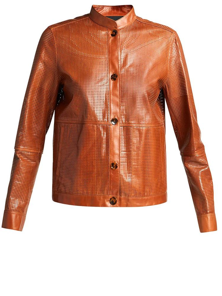 Perforated Becker Bomber Jacket
