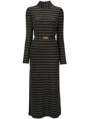 Striped Mock Neck Dress