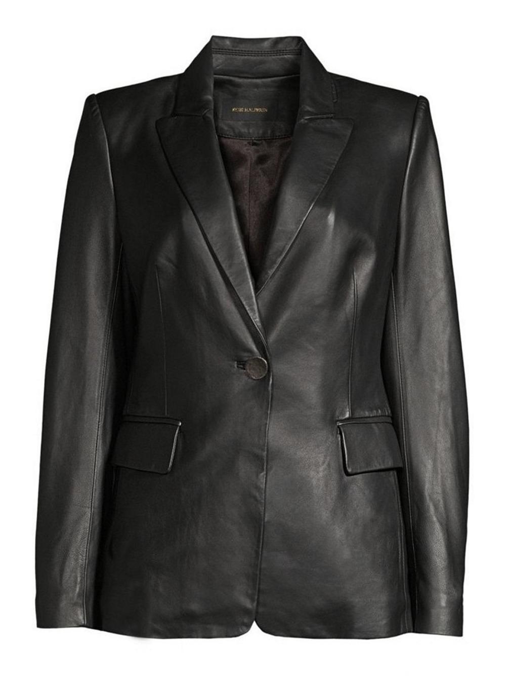 Avery Leather Blazer