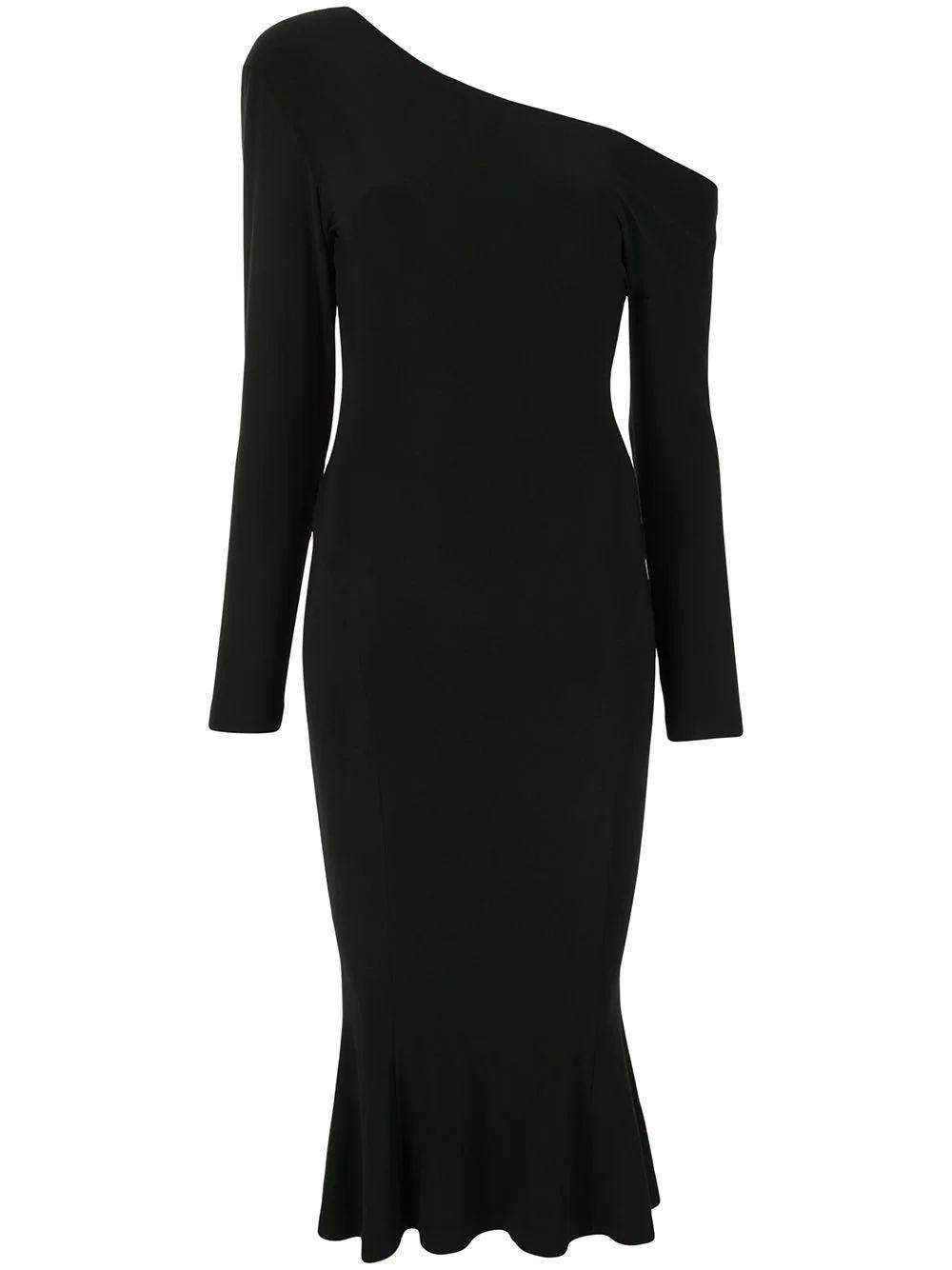 Drop Shoulder Fishtail Dress
