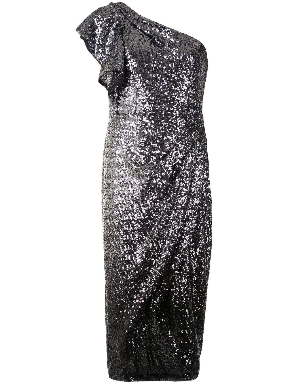 One Shoulder Sequin Dress Item # N41M1984