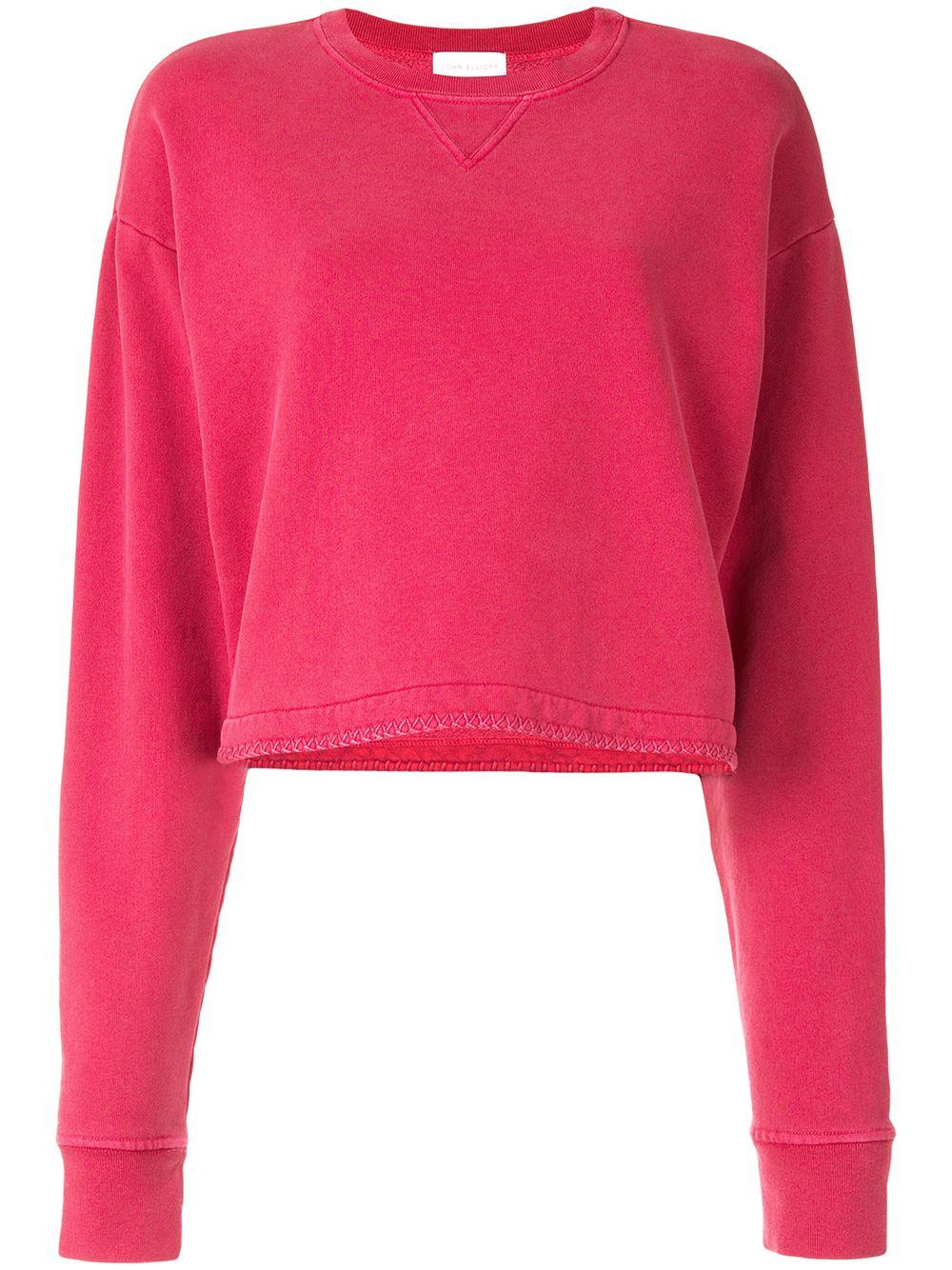 Embroidered Cropped Sweatshirt Item # WB116B24632A