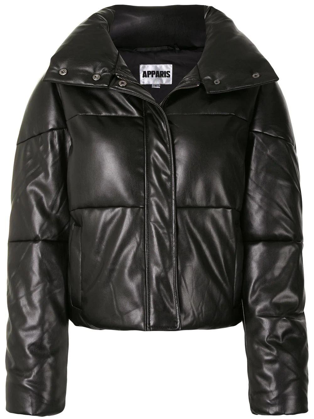 Jemma Faux Leather Bomber