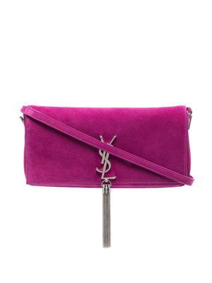 Kate Suede Shoulder Bag With Tassel