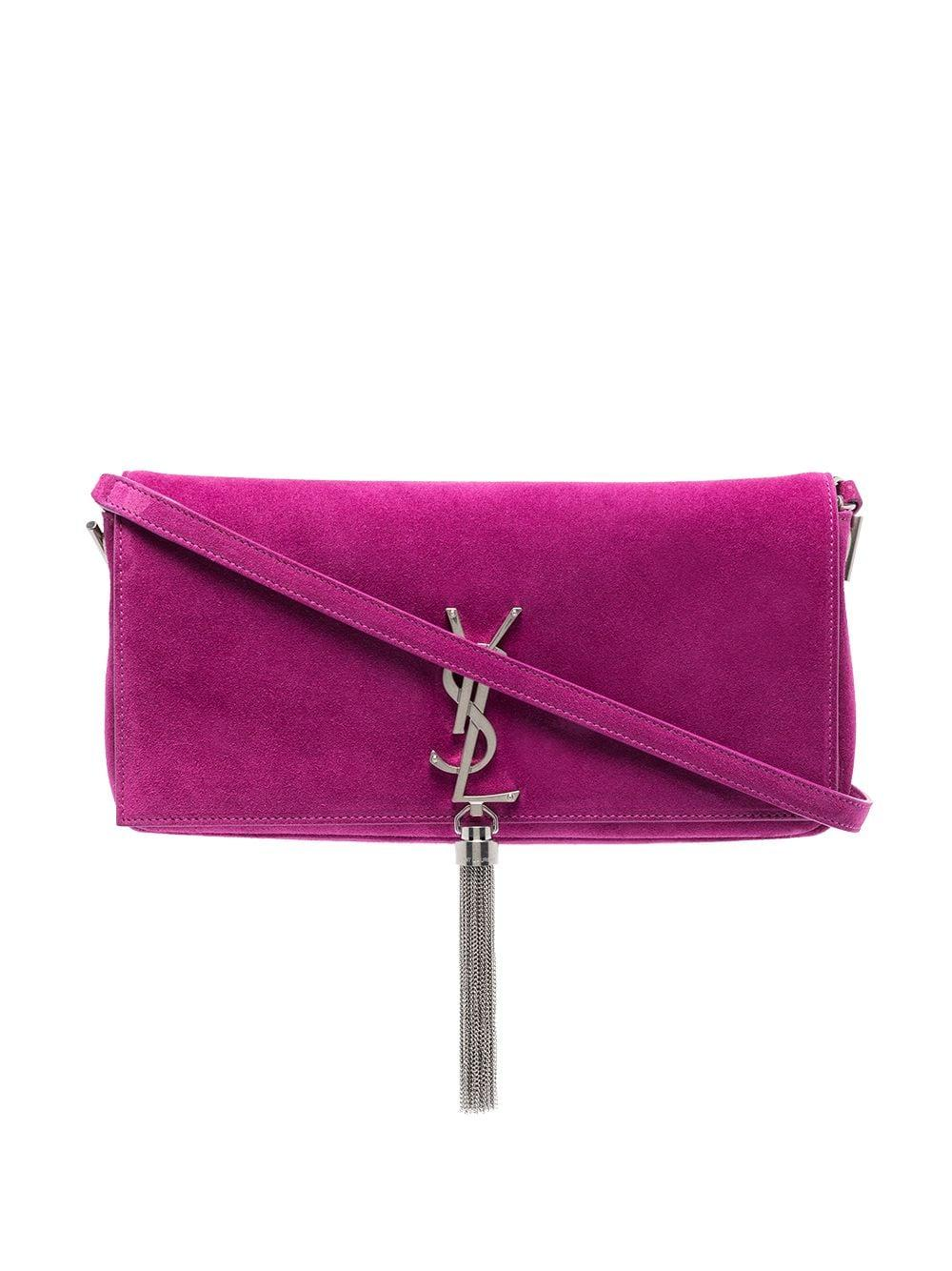 Kate Suede Shoulder Bag With Tassel