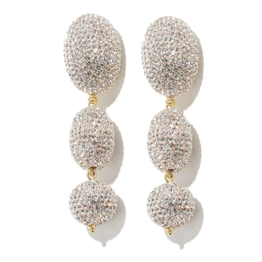 Crystal Bubble Drop Earrings