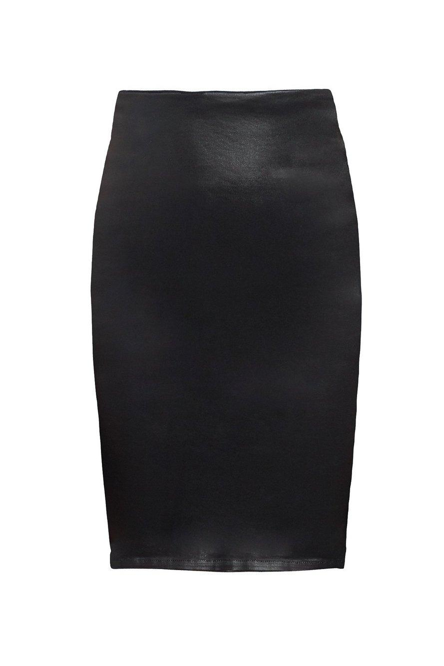 Brandy Coated Pencil Skirt