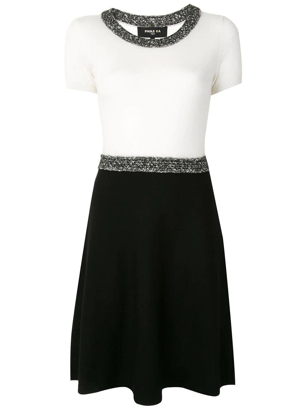 Crochet Trim Fit And Flare Dress Item # 405/RO41