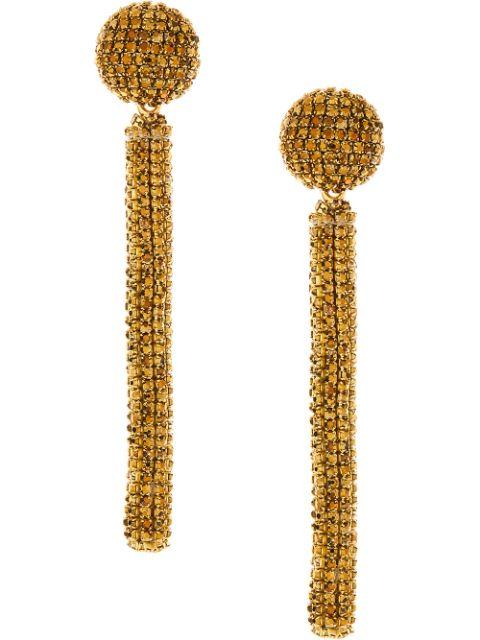 Crystal Embellished Drop Earrings Item # F20J162