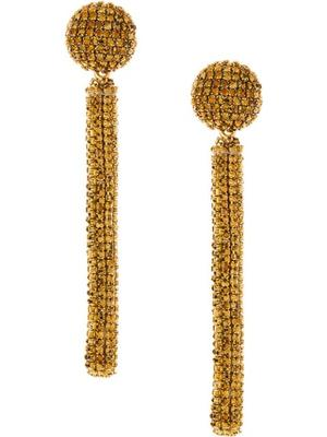 Crystal Embellished Drop Earrings