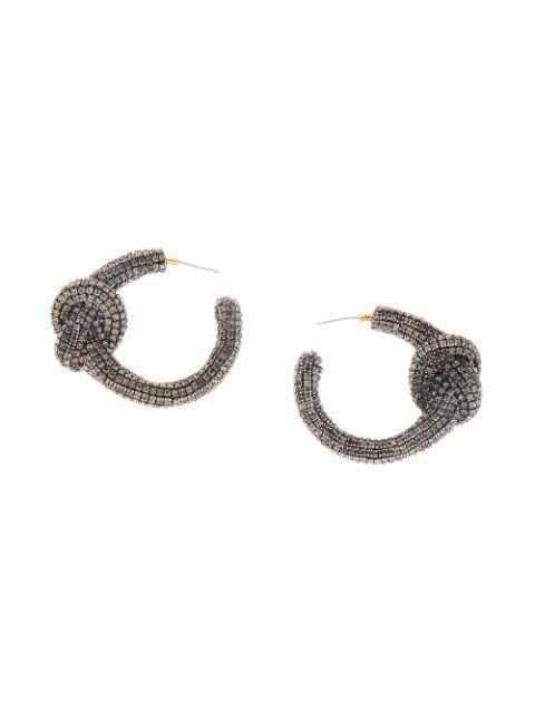 Knotted Hoop Rhinestone Earring