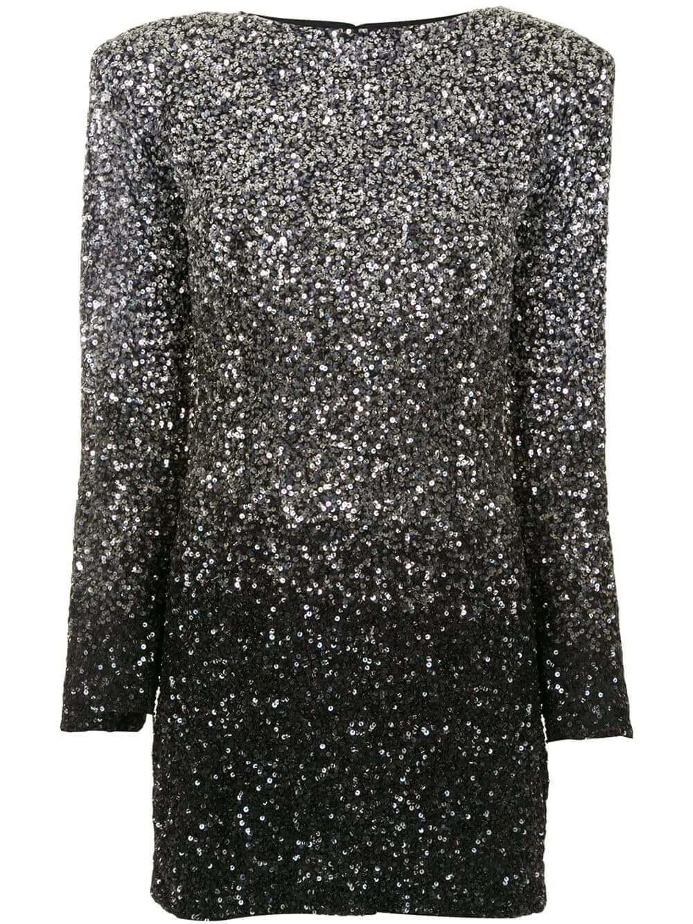 Nikki Ombre Sequin Dress Item # FW20-3114