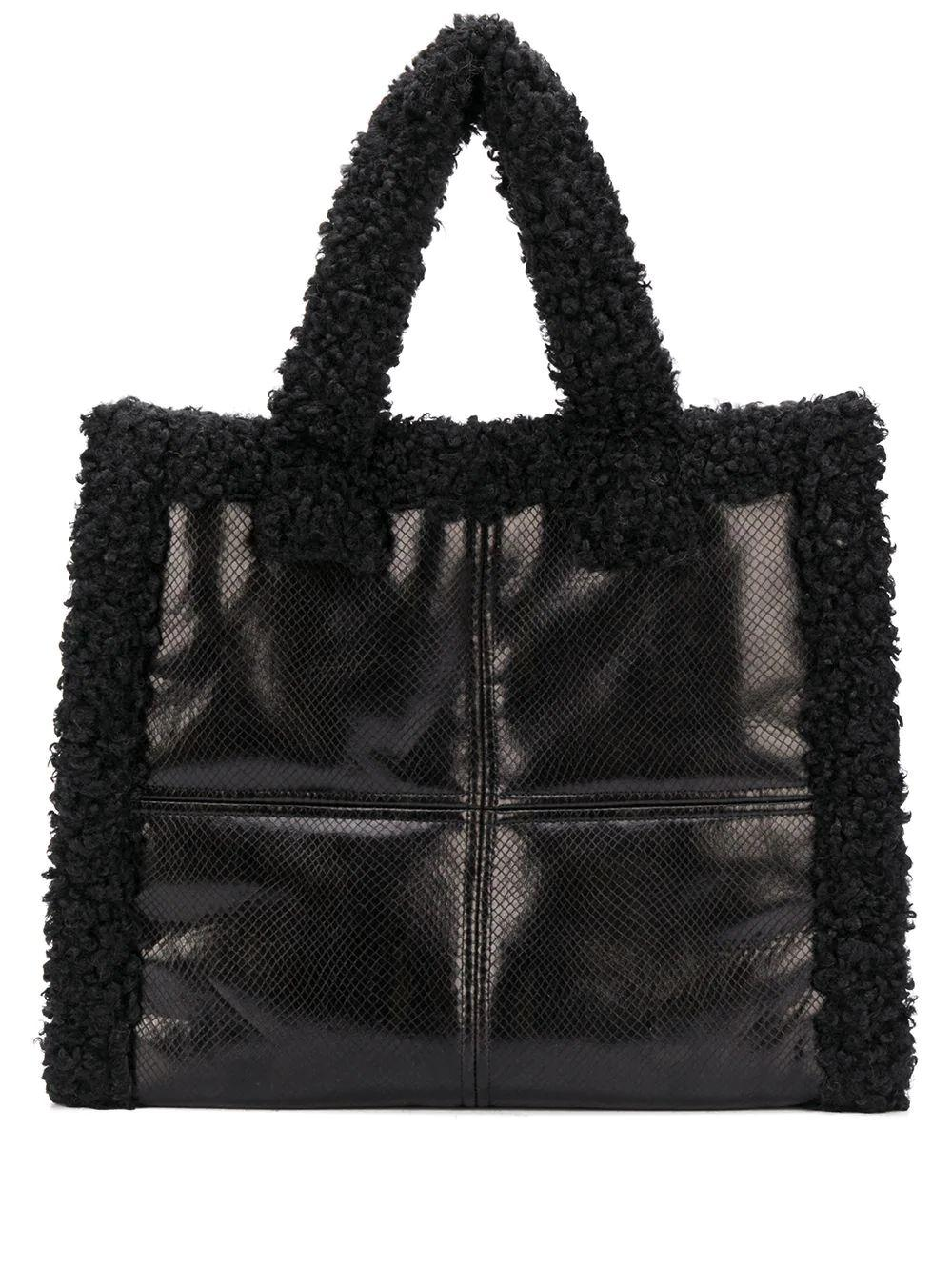 Lolita Shearling Snake Print Bag