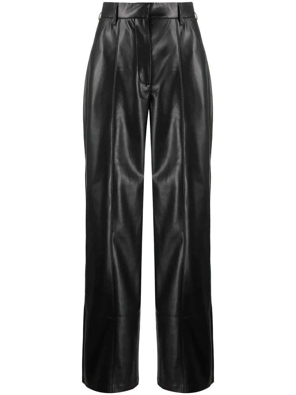 Cleo Vegan Leather Straight Leg Pant Item # FWPA05499