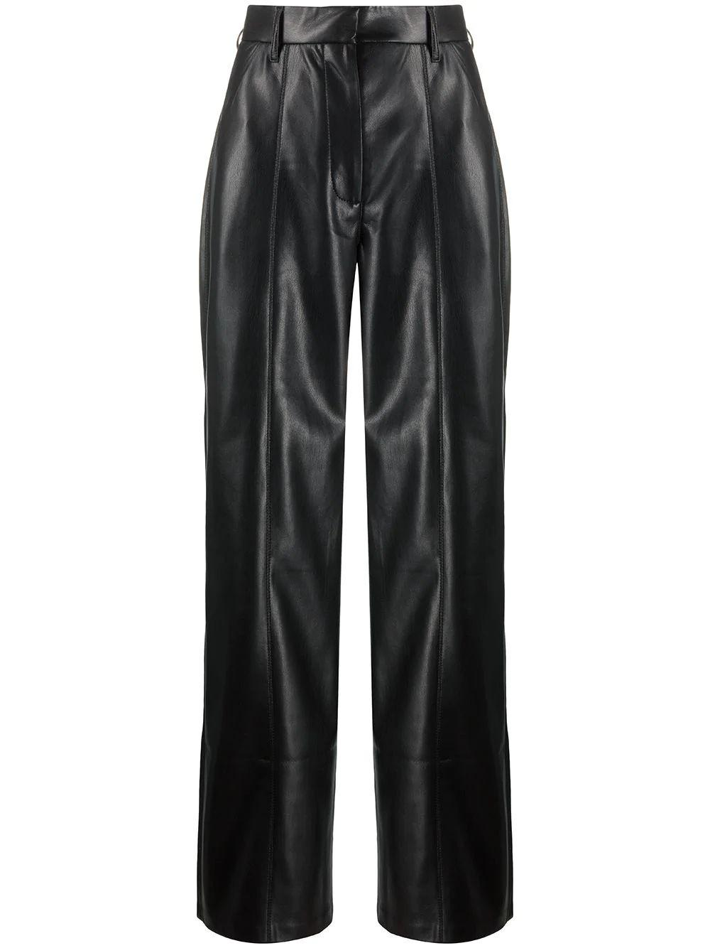 Cleo Vegan Leather Straight Leg Pant