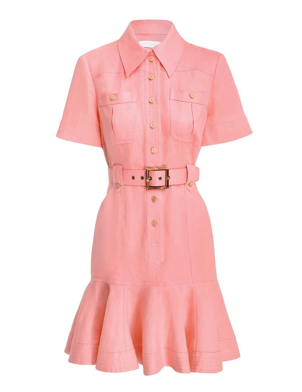 Poppy Belted Mini Dress Item # 9369DPOP-W