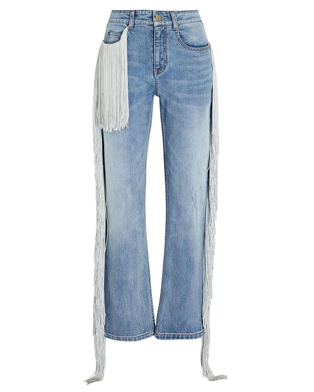 Beau Straight Leg Jean With Fringe Item # HA20P161-55