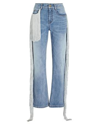 Beau Straight Leg Jean With Fringe