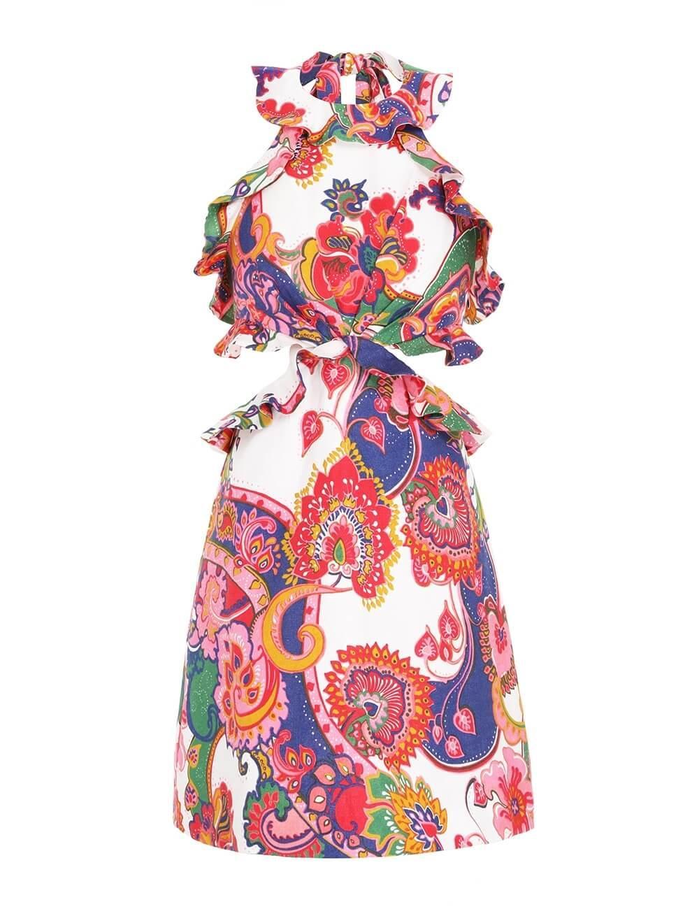 The Lovestruck Tie Back Mini Dress