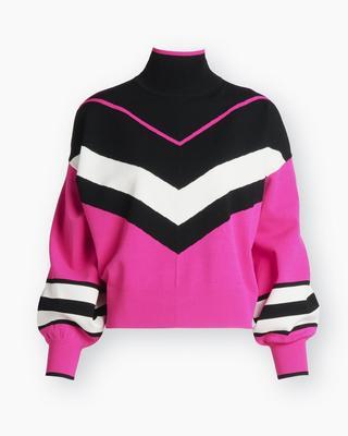 Kyra Colorblocked Turtleneck Sweater