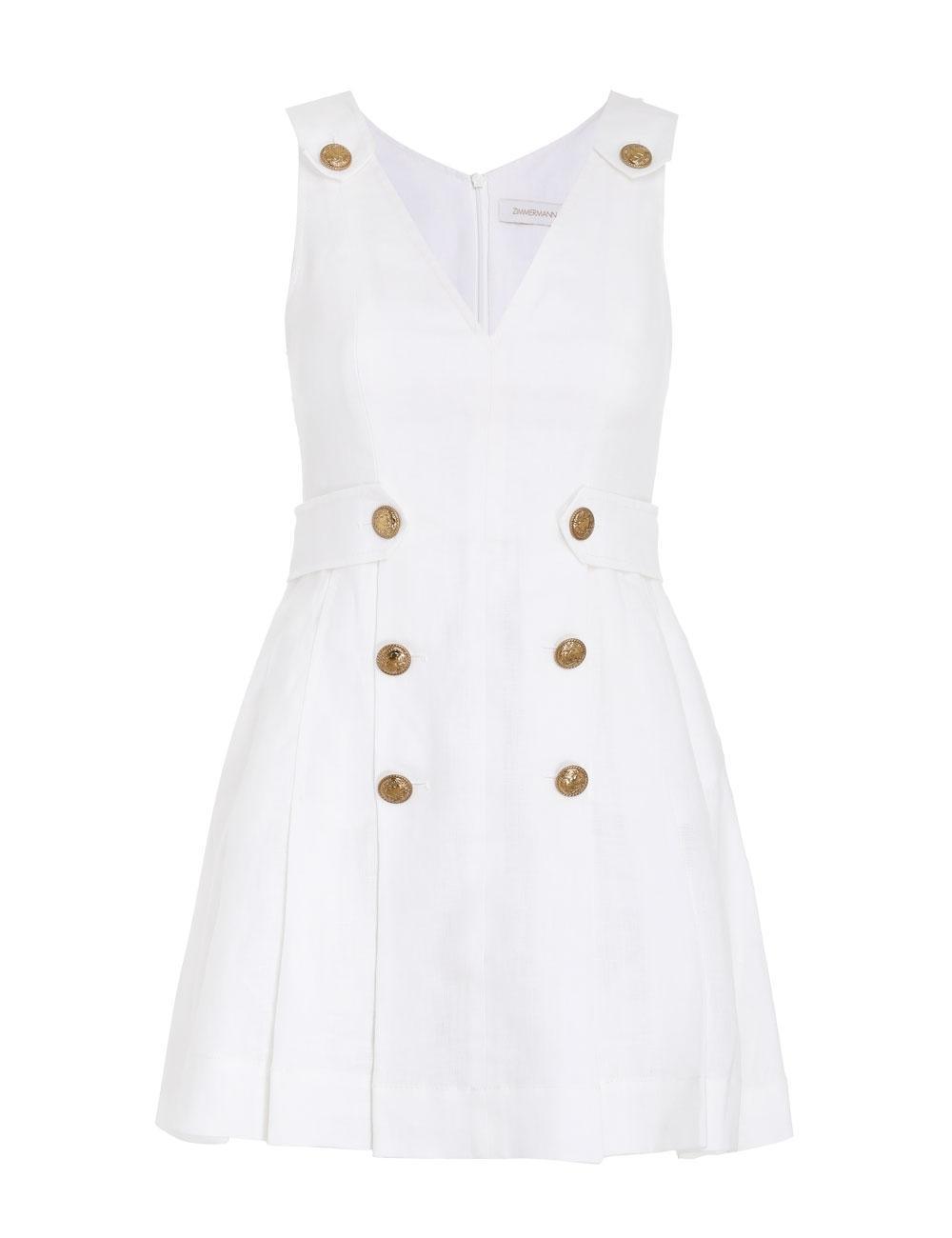 The Lovestruck Buttoned Mini Dress