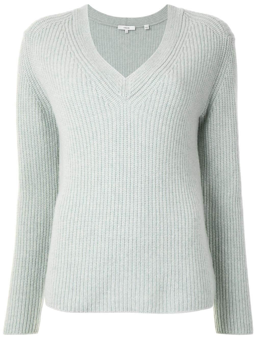 Shaker Rib Knit Cashmere Sweater Item # V695378516